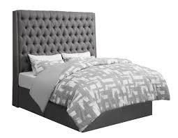 upholstered bed grey. CAMILLE UPHOLSTERED BED - EASTERN KING Upholstered Bed Grey