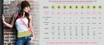 Seven Sling Size Chart Milo Seven Baby Slings