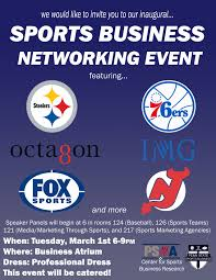 networking flyer sports business networking event march 1st careerconnections