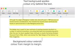 Add A Highlight Effect To Text In Pages On Mac Apple Support