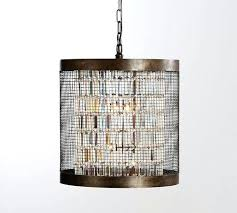 large cage chandelier pottery barn caged crystal large pendant large bird cage chandelier