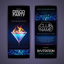 Free Retro Party Invitation Template Free Vector Download