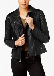 guess studded faux leather moto jacket created for macy s