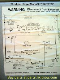 whirlpool dryer model le5800xsw3 wiring diagram fixitnow com whirlpool dryer model le5800xsw3 wiring diagram