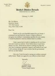 Senator Reid letter