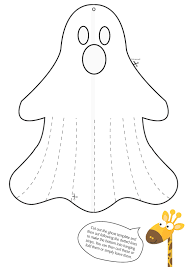 Ghost_Cutout halloween let's get spooky and creative! jiraffe on pumpkin template ghost