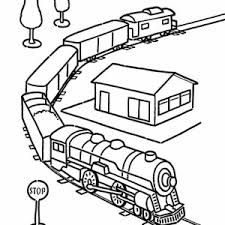 Small Picture A Dog Looking at the Train Coloring Page Color Luna