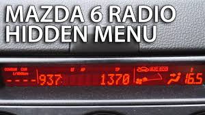 Mazda 6 radio hidden menu (service mode) - mr-fix.info