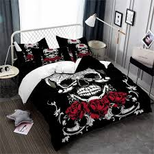 medium size of awesome skulls ink and rags code skull twin comforter set purple