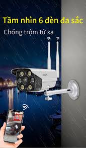 Camera giám sát WiFi không dây ngoài trời chống nước full HD, camera ip  hồng ngoại ban đêm, giám sát từ xa trên điện thoại.