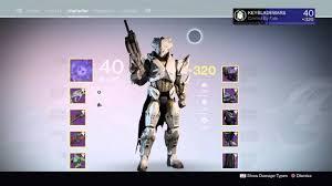 Destiny 1 Max Light Destiny 320 Titan Max Light Level Second Character