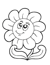 Printable Color Pages Flowers Spring Flower Free Printable Coloring