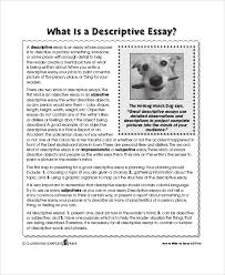 descriptive essay introduction 6 descriptive essay examples pdf