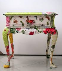 floral decoupage furniture. Decoupage Furniture End Table Floral T