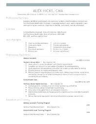Healthcare Resume Examples Health Medical Assistant Resume Examples ...