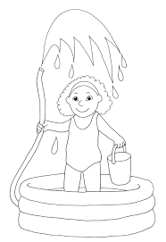 Top Water Cycle For Kids Coloring Page Free Pages In Themed