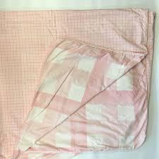 yves delorme pleinair rose full size duvet cover pink white large gingham check yvesdelorme