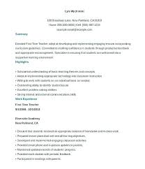 First Time Teacher Resume Letter Resume Directory