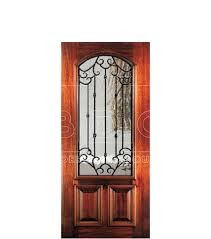 8 mahogany exterior doors with wrought iron grilles