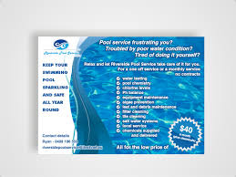 pool service flyers. Flyer Design By Amduat For This Project | Design: #645572 Pool Service Flyers