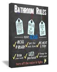 sticker perfect framed canvas printed wall art bathroom rules 16 by 12 inch on toilet rules wall art with amazon sticker perfect framed canvas printed wall art bathroom