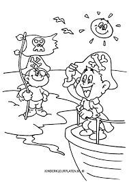 Kleurplaat Piraat Piraten Eiland Beroepen