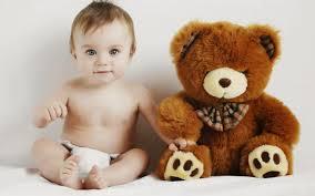 baby with toy teddy bear photo hd jpg