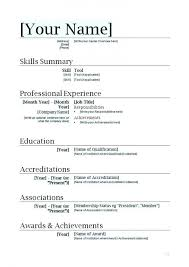 College Student Resume Template Download Resume Template For Word Cv