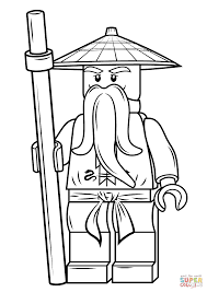 Small Picture Lego Ninjago Sensei Wu coloring page Free Printable Coloring Pages
