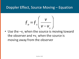 91 doppler effect source moving equation