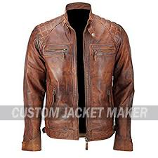 saint mango biker brown leather jacket prev next 15