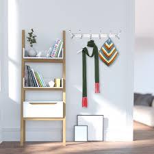 image is loading rack wall mounted 5 double hook coat hat