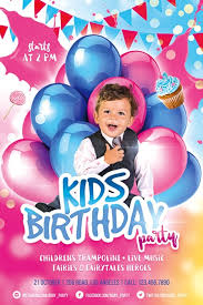 Kids Birthday Party Free Flyer Template Download Flyer