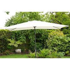 rectangle garden parasol umbrella cream