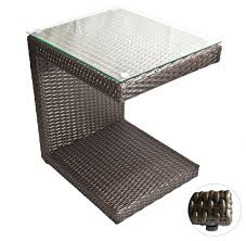 outdoor lounge tables zuma wicker side table espresso brown