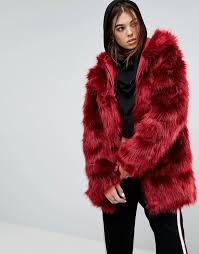 story of lola faux fur coat with hood 194 87 asos com