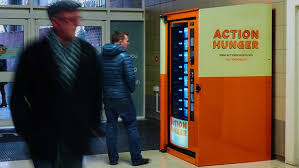 First Vending Machine Dispensed Impressive World's First Vending Machine For Homeless People Launched In The UK