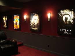 home theater step lighting. movie poster light box display frame cinema lightbox up home theater sign step lighting