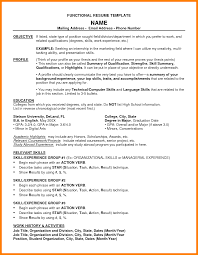 6 Functional Resume Example 2015 Reptile Shop Birmingham