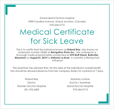 Sickness Certificate Format 23 Medical Certificate Samples Free Premium Templates