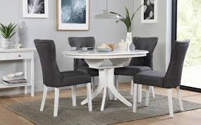 hudson round white extending dining table with 4 bewley slate for cur rocco 7 piece gallery of rocco 7 piece extension dining sets view 8 20 photos