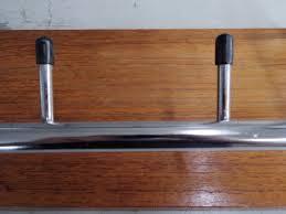 manufacturer unknown vintage teak wood coat rack