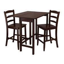Kitchen High Top Tables Lynnwood 3 Piece Drop Leaf High Table With 2 Counter Ladder Back
