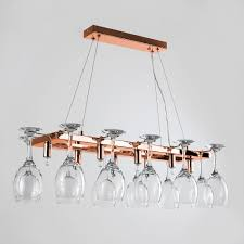 chalice 8 way wine glass holder in copper
