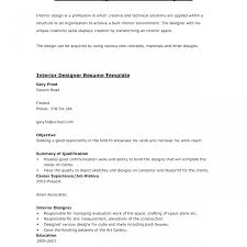 Impressive Interior Designer Sample Resume Pdf Design Student Hd