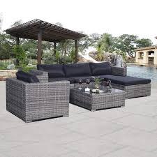 amazoncom patio furniture. Successful Gray Wicker Outdoor Furniture Amazon Com Giantex 6pc Patio Sofa Set Pe Rattan Couch Amazoncom