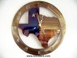 texas clock in the shape of texas texas metal art clock all