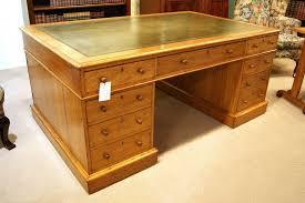 victorian golden oak partners desk antique victorian golden oak partners desk