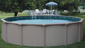 Image Doughboy click To Enlarge Backyardcitypoolscom Bermuda Round Aluminum Pool 28ft 54in Above Ground Swimming