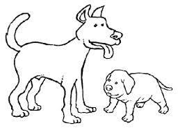 Due Cani Disegno Da Colorare Per Bimbi Disegni Da Colorare E